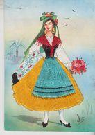 Brodé Brodèe Ricamate Embroidered Costumi Folklore Liguria - Embroidered