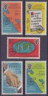 NICARAGUA :1962: Y.PA475-79 Dentelled/avec Trace De Charnière/hinged : ## MALARIA ERADICATION CAMPAIGN ## : PALUDISME, - Nicaragua
