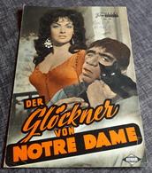 """Altes NFP-Filmprogramm - GINA LOLLOBRIGIDA In """"Der Glöckner Von Notre Dame"""" Mit Anthony Quinn ... - 180606 - Magazines"""