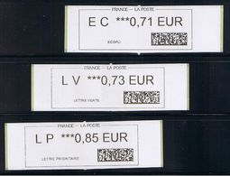 3 ATMs, 1er Prototype CALISE, STATION F, PARIS, EC 0.71 / LV 0.73 / LP 0.85€, NOUVEL AUTOMATE Depuis Le 30 JUIN 2017. - 2010-... Geïllustreerde Frankeervignetten