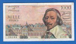 1000 Fr  Du 1/9/1955 - 1 000 F 1953-1957 ''Richelieu''