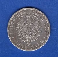All  5  Mark  1876 C - [ 2] 1871-1918 : German Empire