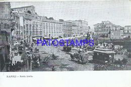 86726 ITALY NAPOLI CAMPANIA SANTA LUCIA TRAMWAY A HORSE POSTAL POSTCARD - Italia