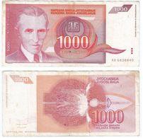Yugoslavia 1.000 Dinara 1992 Pick 114 Ref 1491 - Yugoslavia