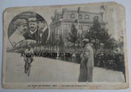 CPA - CYCLISME-TOUR DE FRANCE 1907 - ARRIVEE DE  LOUIS TROUSSELIER - Cycling