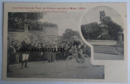 CPA - CYCLISME-TOUR DE FRANCE 1910 - ARRIVEE DE  FRANCOIS FABER A METZ - Cycling