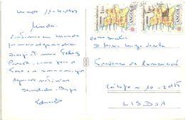 FAUNA ANGOLANA - ANGOLA - MACACO CHIMPANZE CHIMPANZEE MONKEY SINGE - USED WITH STAMPS TIMBRES - Angola