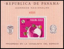 Panama, 1966, International Telecommunication Union, ITU, United Nations, Space, MNH, Michel Block 54 - Panama