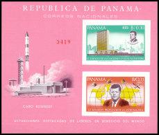 Panama, 1966, Kennedy, JFK, Space, United Nations, MNH Imperforated, Michel Block 62 - Panama