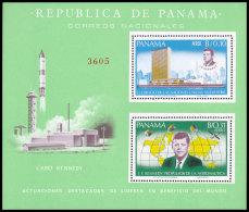 Panama, 1966, Kennedy, JFK, Space, United Nations, MNH, Michel Block 61 - Panama