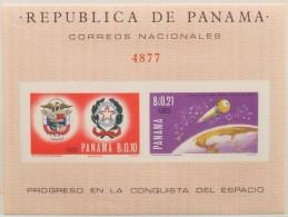 Panama, 1966, Space, MNH Imperforated, Michel Block 53 - Panama