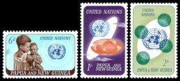 Papua New Guinea, 1965, United Nations 20th Anniversary, MNH, Michel 80-82 - Papoea-Nieuw-Guinea
