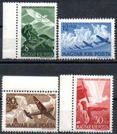 Hungría 1942 ** YT A48-51 Sobretasa Aérea. Aviones, Pilotos Y Vuelos Mitologicos. - Mitologia