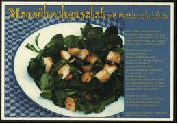 Rezept : Mausöhrchensalat Mit Fettkrachelchen  -  Ansichtskarte Ca. 2002   (8245) - Küchenrezepte