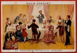"""CHROMO Publicitaire RHUM CHAUVET """"Le Meilleur Tonique Et Digestif"""" * Pub Publicité - Cromos"""