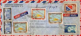 LETTRE AIR MAIL De La République Dominiçaine A Neuilly Sur Seine 1949 - Dominicaine (République)