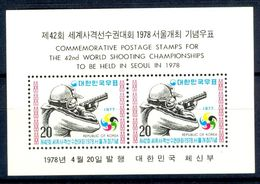A5- South Korea 1978. 42nd World Shooting Championships To Be Held In Seoul. - Korea, South