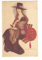 NANNI - GLAMOUR LADY WITH BIG HAT & FUR - N. 286/6 - 1910s (384) - Nanni