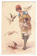 MALUGANI - GLAMOUR LADY & DOVES - N. 92/3 - 1910s (404) - Illustrators & Photographers