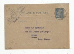 Sur Carte Postale , ENTIER POSTAL , 1932 , Paris , Av D'ORLEANS ,40c , Ets Albert LEPETIT - Entiers Postaux