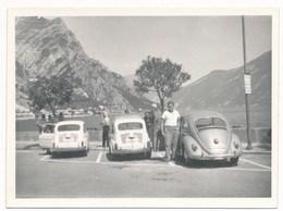 REAL PHOTO, Old Car.  VW Fiat 750  Auto Automobilia Woman  Photo ORG - Automobiles
