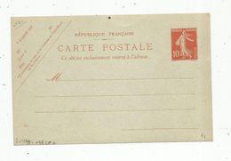 Sur Carte Postale , ENTIER POSTAL NEUF ,10c - Ganzsachen