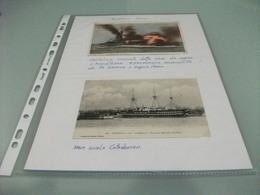 LOTTO 2 CARTOLINE NAVE SHIP  GUERRA  L'ANGLETERRE E NAVE SCUOLA CALEDONIEN - Guerra