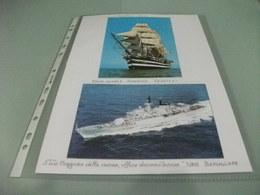 LOTTO 2 CARTOLINE NAVE SHIP  VELIERO NAVE SCUOLA AMERIGO VESPUCCI  E NAVE GUERRA BERSAGLIERE - Guerra