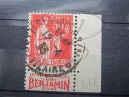 """VEND BEAU TIMBRE DE FRANCE N° 283 , TYPE I + BORD DE CARNET + BANDE PUBLICITAIRE """" BENJAMIN """" !!! - Publicités"""