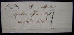 Layrac (Lot Et Garonne) 26 Février 1849 Lettre Pour Le Port De Pascau (Monsieur Pébereau) - Storia Postale