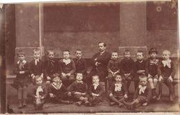 42 RARE St Etienne 1885-86 Ecole Des Garçons Et Instituteur Photo Originale 23x14.6 Cms Dos Scanné - Photos