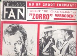 MUSIC FAN  NR 86 VAN  APRIL 1968  - WILL TURA - MARC DEX - ZORRO - DAVID JANSSEN -  GROOT FORMAAT - NEDERLANDS  (MF 86 ) - Tijdschriften