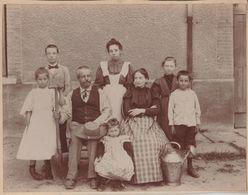 42 RARE St Etienne Cote Chaude1897 Instituteur Et Groupe Nommé Photo Originale 21.2x16.5 Cms Dos Scanné - Photos