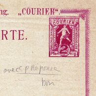 Entier Postal Courier Karte Private Stadtpost 2 Pfennig Brief-Beförderung - Germania