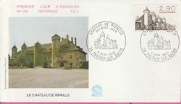 18 / 2 / 138    -  ENVELOPPE  PREMIER  JOUR  - CHÂTEAU  DE  RIPAILLE - THONON  LES  BAINS ( 74 )  -  4  SEP.  1982 - FDC