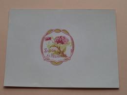 Savon A L'Héliotrope ( Voir Photo Pour Detail Svp ) Format +/- 11 X 15 Cm. ! - Labels