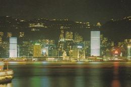 HONG KONG - CHINA - NIGHT SCENE - PANORAMA BY NIGHT - Cina (Hong Kong)