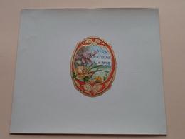 Savon Aux Fleurs A LA ROSE ( Voir Photo Pour Detail Svp ) Format +/- 18,5 X 16,5 Cm. ! - Labels