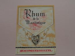 RHUM De La MARTINIQUE ( MvdH ) Format +/- 10 X 13,5 Cm. ! - Rhum