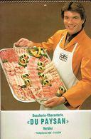 Calendrier 1984 De La Boucherie Du Paysan (Verbier, Suisse) Avec 24 Recettes De Plats De Viande Et 12 Photos Couleurs - Calendriers