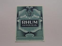 RHUM Superieur Very Fine ( Mvdh - 1064 ) Format +/- 9 X 12 Cm. ! - Rhum