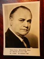 15848) TENORE BENIAMINO GIGLI NON VIAGGIATA RETRO DATATA 1960 - Cantanti E Musicisti