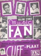 MUSIC FAN  NR 45 VAN 10 NOVEMBER 1964  - WILL TURA - ELVIS - CLIFF- ADAMO - NEDERLANDS  (MF 45 ) - Tijdschriften