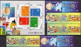 Armenien Block 24+Bosna 419/2,ZD,2 VB ** 50€ First Issue Stamps EUROPA Blocs S/s Sheets Bf 50 Years CEPT 2006 - Gemeinschaftsausgaben