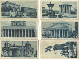 Roma, 6 Cartoline: Palazzo Margherita, Tempio Vesta, Basilica S.Paolo, Pantheon, Basilica S.M.Maggiore, Monum. Garibaldi - Roma