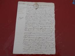 Acte Notarial  De 1773   Cachet Bretagne  Deux  Sols - Manuscripts