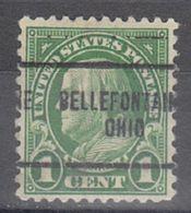 USA Precancel Vorausentwertung Preo, Locals Ohio, Bellefontaine 632-704 - Vereinigte Staaten