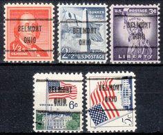 USA Precancel Vorausentwertung Preo, Locals Ohio, Belmont 719, 5 Diff. - Vereinigte Staaten