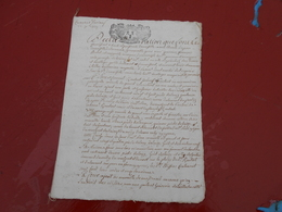 Acte Notarial  De  1714   Cachet Bretagne   P. P.T  Sols  4 Deniers - Manuscripts