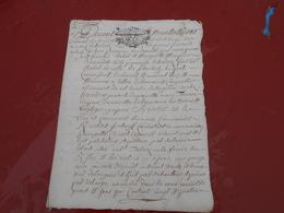 Acte Notarial  De  1711   Cachet Bretagne   P. P.T  Sols  4 Deniers - Manuscripts